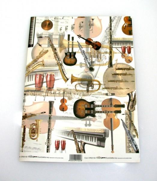 Geschenkpapier Strumenti 70x100cm
