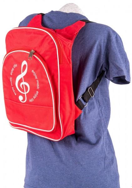 Jugend-Rucksack rot, Violinschlüssel