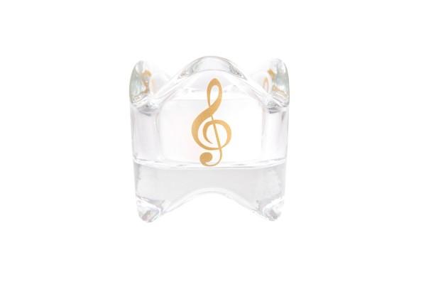 geformtes Windlicht mit Violinschlüssel
