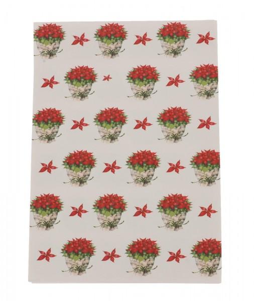 Geschenkpapier-Bogen Notenblatt mit Weihnachtsstern