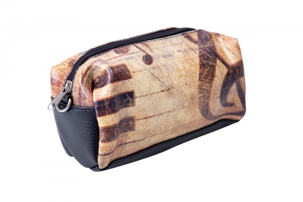 Kulturtasche aus Kunststoff mit Reißverschluss