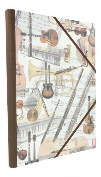 Sammelmappe Strumenti, mit verschiedenen Instrumenten