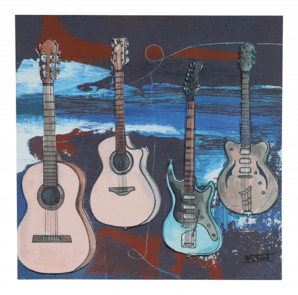 Postkarte, Gitarren, Bernadette Trost