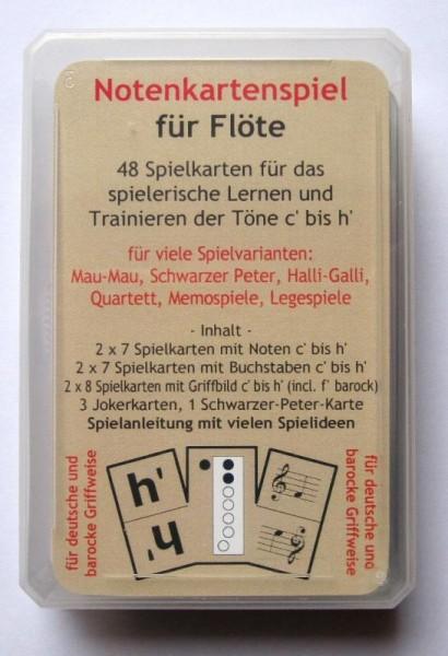 Notenkartenspiel für Flöte