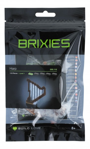Brixies Mini-Collectionen / Microsized building blocks, Harfe