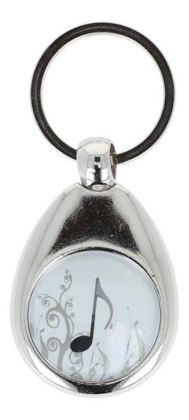 Schlüsselanhänger mit musikalischem Motiv und Einkaufschip, verschiedene Instrumente