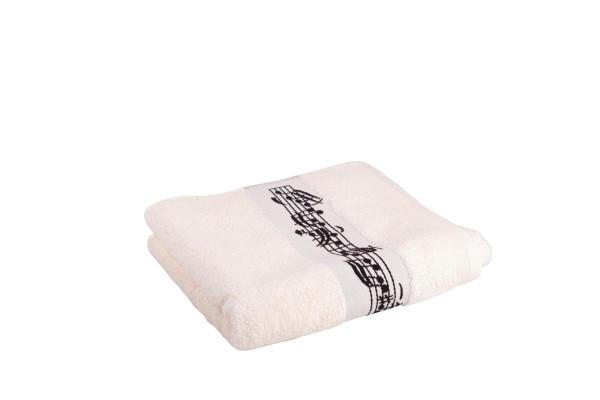 Handtuch mit eingewebter Notenbordüre