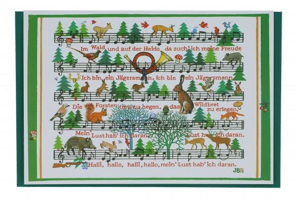 Doppelkarte, Im Wald und auf der Heide