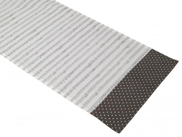 Tischläufer 40 x 100 cm Musik w/grau