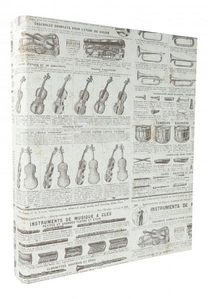 hochwertiges Ringbuch VINTAGE mit Instrumenten und Text