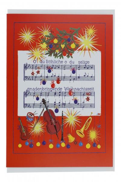 Doppelkarte, Weihnachten, Oh du Fröhliche