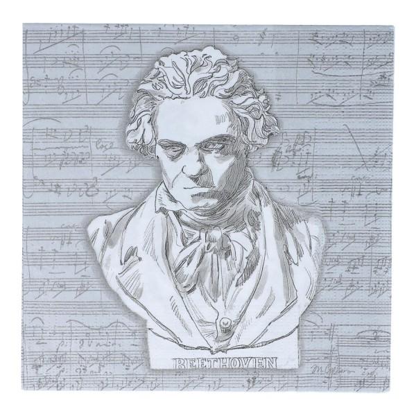 Servietten 33/33 cm, Beethoven