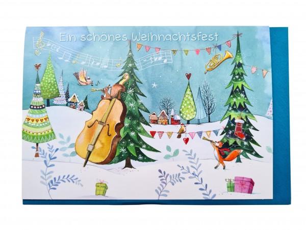 Doppelkarte Ein schönes Weihnachtsfest