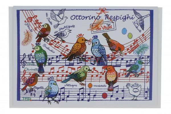 Doppelkarte, Vögel
