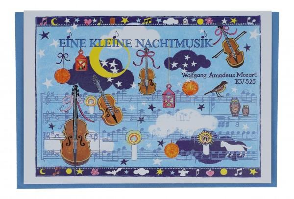 Doppelkarte, Kleine Nachtmusik von W.A.Mozart