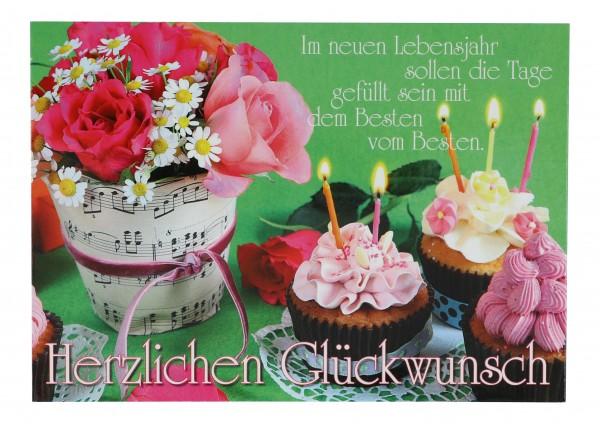 Postkarte, Herzlichen Glückwunsch