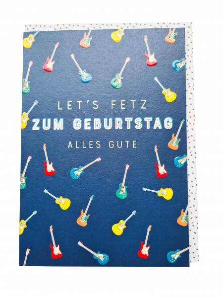 "Doppelkarte ""Let's Fetz"" Zum Geburtstag alles Gute"