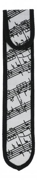 Jute-Blockflötentasche Noten
