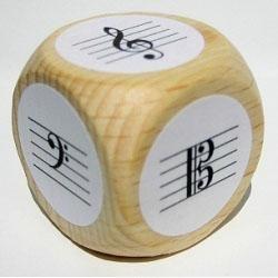 Notenwürfel für Klavier