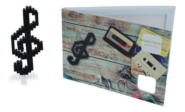 Puzzle- Postkarte mit Notenschlüssel